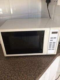 Microwave , toaster 4 slice white kettle , mug holder and bit