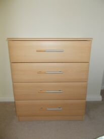 Beech Effect Chest of Drawers