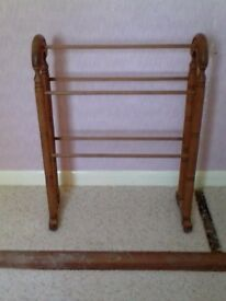 pine towel rack