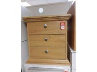 canterbury 3 drawer bedside - Oak