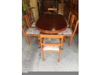 beresford hicks dinning table, chairs, display cabinet & display tables