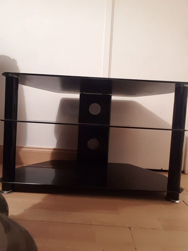Black Glass Tv Table In Donegall Road Belfast Gumtree # Table Tv En Coin
