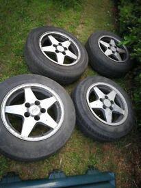"Ford Granada 15"" Alloys wheels 5x112 merc etc RS 5 stud 5 spoke not rs7 7 spoke"
