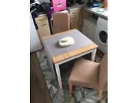Small dining table and x2 chairs