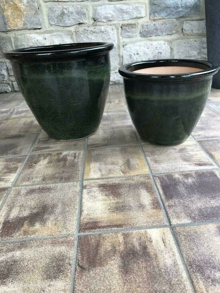 New Large and small heavy glazed planters | in Broadstone, Dorset | Gumtree