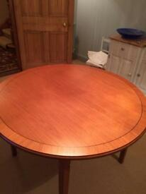 Quality 120cm extendible table. Gattonside. Melrose. Medium wood