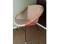 Vintage 1960's Plastic Woven Chair