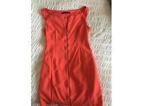 Zara size 12 orange dress