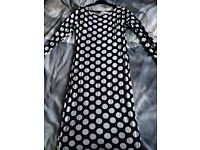 Size M/L spotted dress and size 14-16 Swing dress