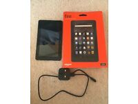 """Amazon Fire tablet. 7"""" display. Original packaging. Hardly used."""