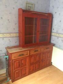 Wooden sideboard & Glass door cabinet