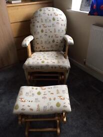 Fox reclining rocking chair excellent condition