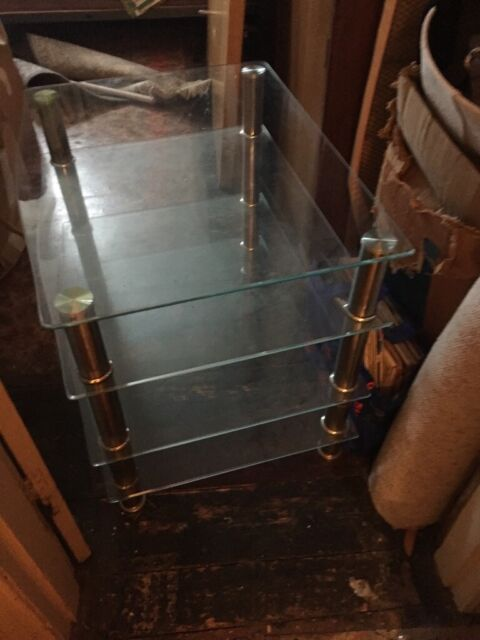 Tv stand all glass large | in Hove, East Sussex | Gumtree