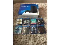PS4 pro & 8 games