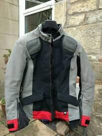 BMW Ladies Waterproof Motorcycle Jacket Streetguard Size 14L