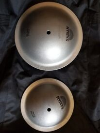 """Two Sabian Alu ice bells . Sizes 11"""" and 9"""""""