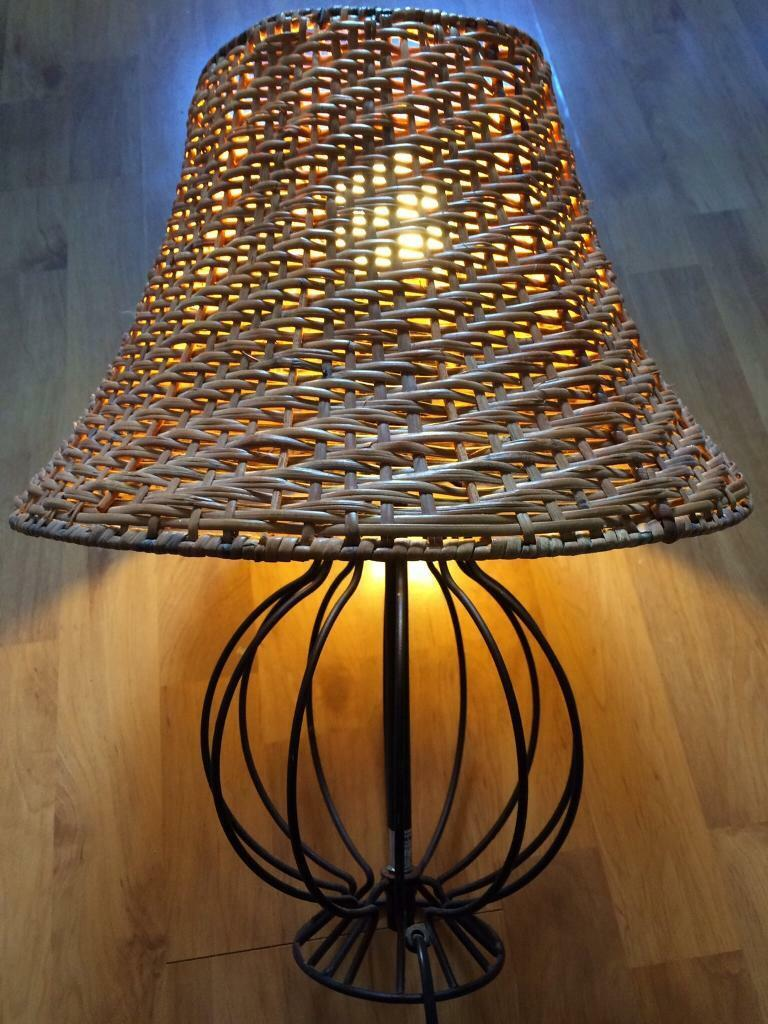 Wicker Gumtree Lamp PortsmouthHampshire 2 Shadesamp; Ikea BlackIn m8N0ywvnO