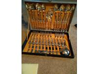 Silver 58 piece cutlery set EPNS A1