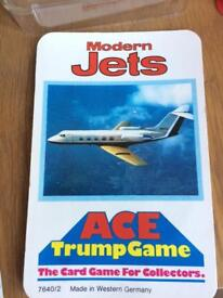 Ace Trump Game - Modern Jets - from 1970s