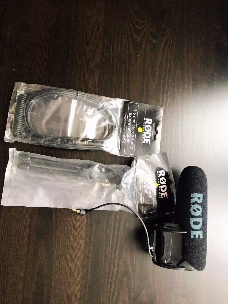 Rode Videomic Pro – Camera Microphone In Perfect Condition With Stand And Extension Cable!!!