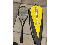 Squash racket with case