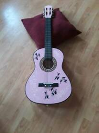 Children's pink guitar