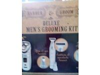 Men's grooming kit boxed