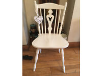 A SUPER SOLID VINTAGE SHABBY CHIC CHAIR