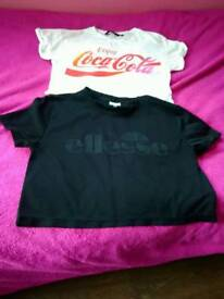 Ellesse black top and coca cola top