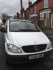 Mercedes Vito / 2008 / twin side doors / roof rack / tow bar