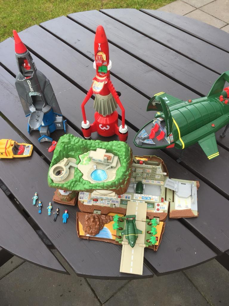 Toy collection Thunderbirds vintage lot from early 90's figures vehicles collectible toys