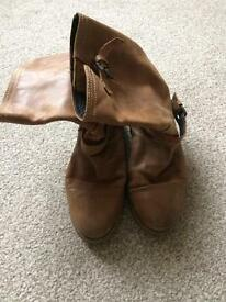 Dune ladies Size 6 tan boots