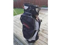 Wilson deep red golf cart bag