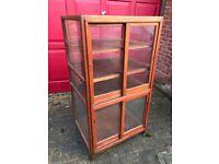 Vintage retail display cabinet