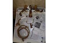 Bran new gold Chrome Bath faucet in very good condition.