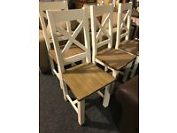 Six BRAND NEW WOODEN CHAIRS-£330