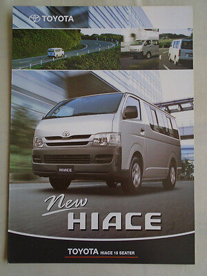 Toyota Hiace 15 Seater brochure c2011 Mauritius market Englsih text