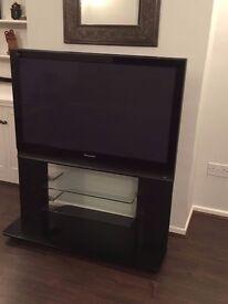 "Panasonic 42"" Plasma TV with integrated stand"