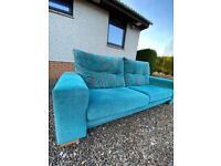 Blue 3 Seater Loveseat Sofa from FAMA! Delivery Included!