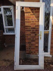 UPVC door frame with glass