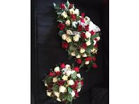 2 wedding display bouquets