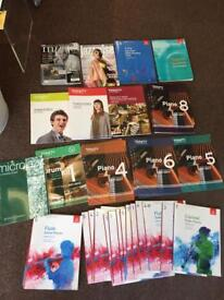 Various old exam books, music magazines, sheet music etc for cheap