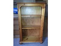 Small Solid Natural Pine Bookcase