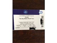 Drake Ticket: The boy meets the world tour 02 arena 4th February 2017