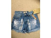 Size 6 Boohoo denim shorts