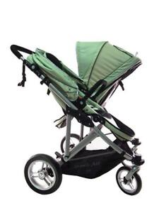 New StrollAir My Duo Twin/Double Stroller, Green