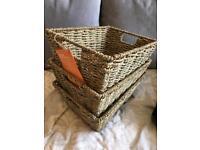 3x baskets brand new