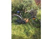 Ladies blue bike