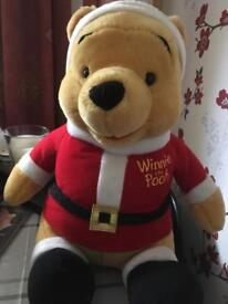 Winnie the Pooh in Santa outfit