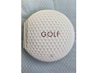 GOLF BOOK IN THE SHAPE OF GOLF BALL